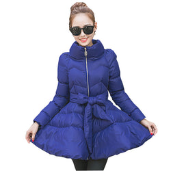 Winter Ukraine Women Down Cotton Puff Skirt Coat Parkas 2017 Large size Thick Feather Female Jacket Fashion Femme Outerwear Z203
