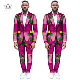 (Jackets+Pants) Dashiki for Men Suits Custom Fit Fashion Straight Business Wedding Suits for Men Blazers Plus Size 6XL WYN308