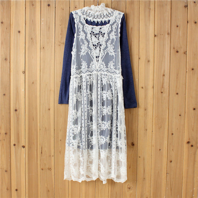 41b694ffe6e53 Hover to zoom · Mori Girl Lolita Japanese Hippie Boho Cotton Crochet Lace  ...