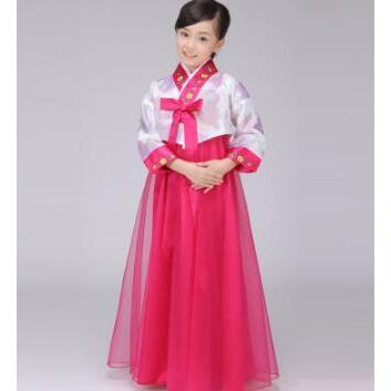 2017 New Hanbok girl Children Hanbok Minority costumes Korean dance clothes
