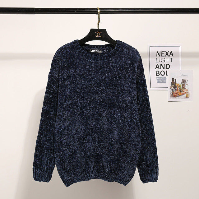 ee898da48d ... Fashion Winter O-neck Warm Sweater Women 2017 Long Sleeve Knitted  Sweaters And Pullovers Female ...