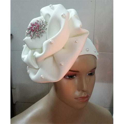 2018 NEW african ready to wear gele headwrap african flower cap