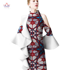 2018 summer Dresses Plus Size african dresses for women o-neck women  african clothing knee ... 6e2e9abf25ea