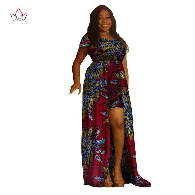2017 BintaRealWax African Dresses for Women Africa Women Sleeveless Maxi Dress African Wax Print Fashions Clothing 6XL WY1873