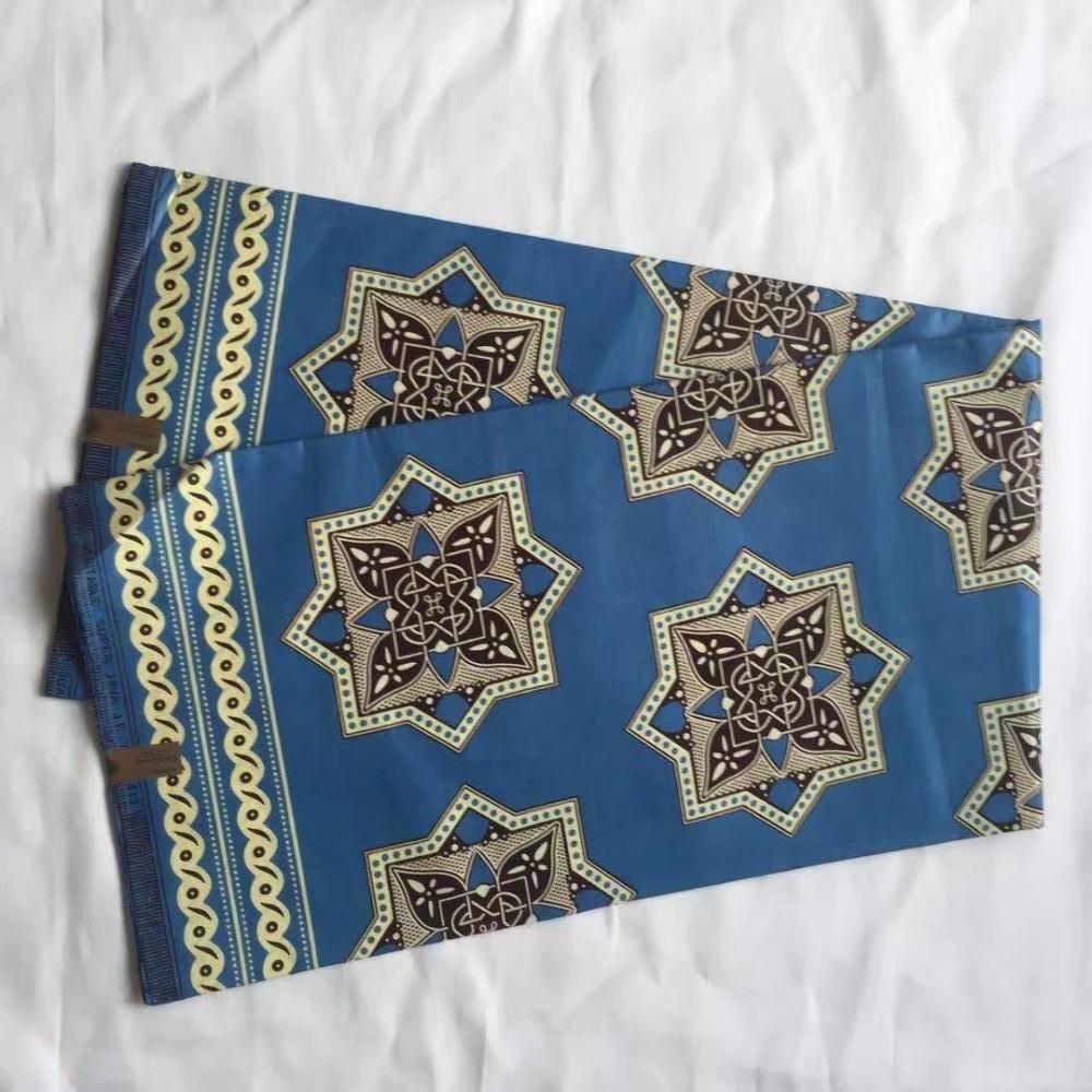 100% cotton Good quality African Ankara batik Java wax fabric for party dresses 6 yards A371030-7