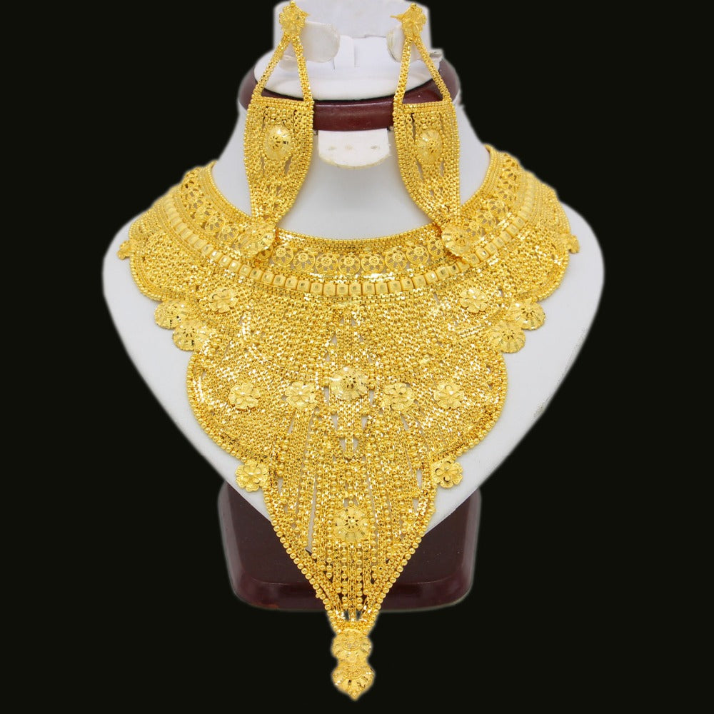 New Elegant Arab Africa  /Party Gifts, Wedding High Quality Dubai Necklace Earrings Jewelry Set