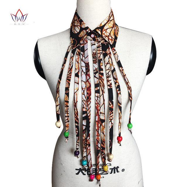 2017 African New False Collar and Tassel Colorful Detachable Collars Women Clothes Accessories 6 colors BRW WYA065