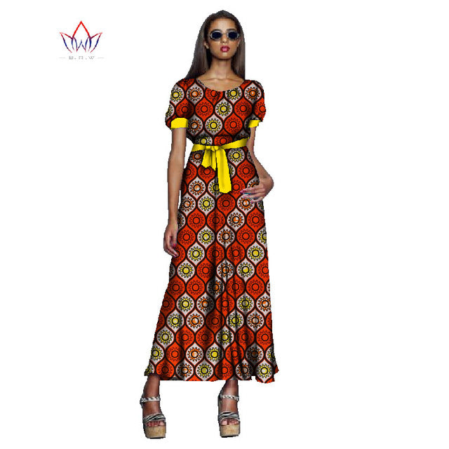 8178559ee2f ... Print Dresses for Women Bazin Riche Cotton Plus Size 6xl Africa Style  Clothing. Hover to zoom