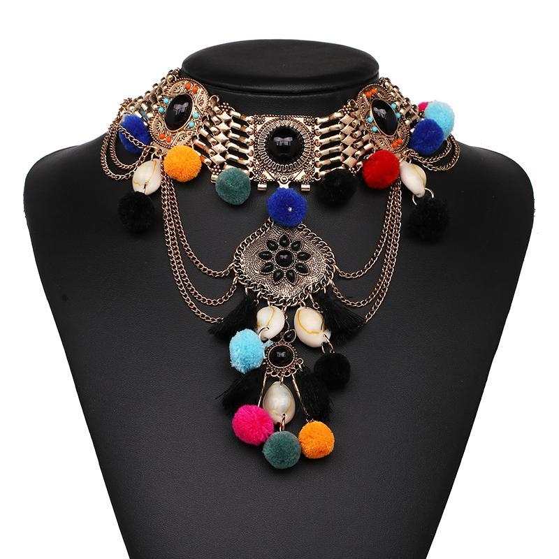 2017 New Fashion Metal Choker Necklaces & Pendants Collar Luxury Choker Statement Necklace Maxi Boho Jewelry Wholesale F10025