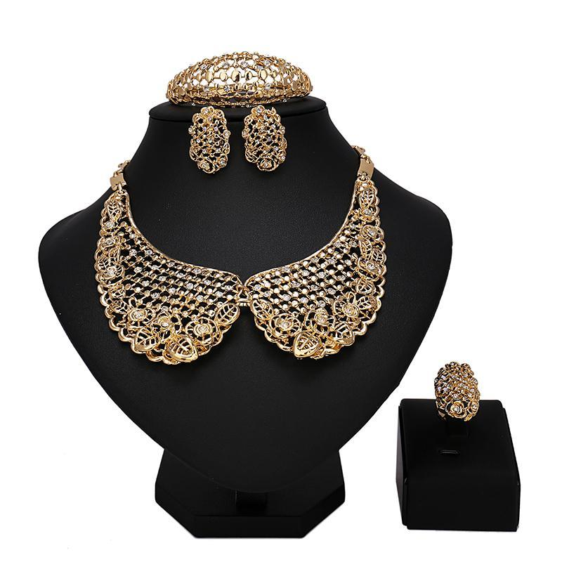 2017 fashion african jewelry sets wedding jewelry set african gold jewelry set high quality beads jewelry sets free shipping