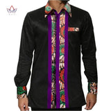 New Autumn 2018 African Shirt for Men Dashiki Long Sleeve Plus Size African Clothes Patchwork Casual Style Men Shirt BRW WYN359