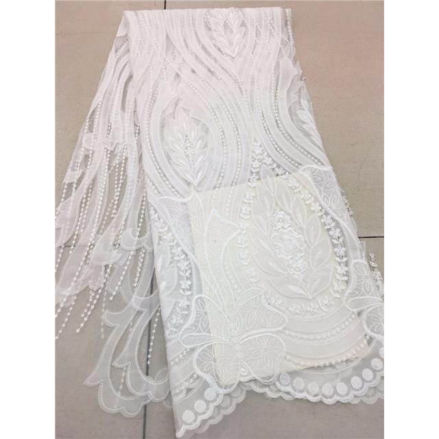 2017 High Quality Guipure African Lace Fabric Embroidered Wedding Decoration French Nigerian Lace Fabrics