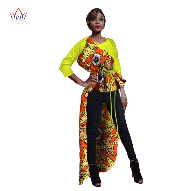 2c88f55d706 2018 African Print Wax Shirt for Women Dashiki Long Top Africa Clothing  Bazin Plus Size Traditional. Hover to zoom