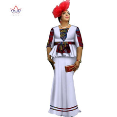 375801c90e Africa Two Piece Set For Women Fashion 2018 Dashiki Half Sleeve African  Clothes Bazin Plus Size ...