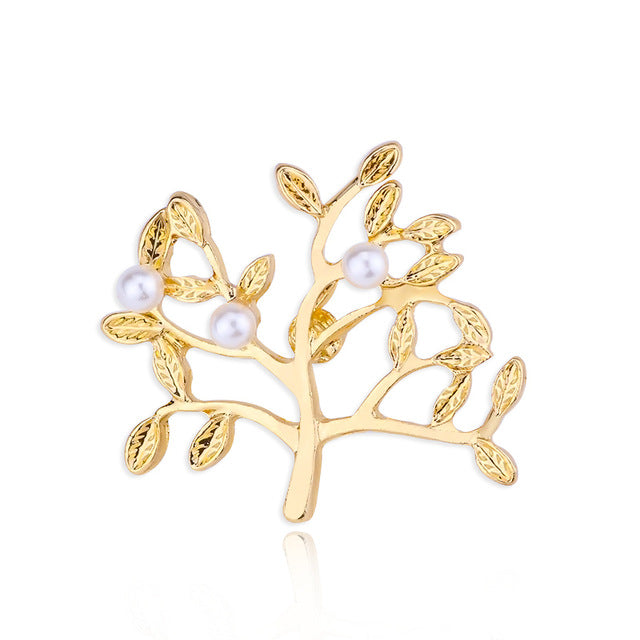 ac098106d ... Women Men Jewelry Wholesale Unisex Metal Plant Brooch. Hover to zoom