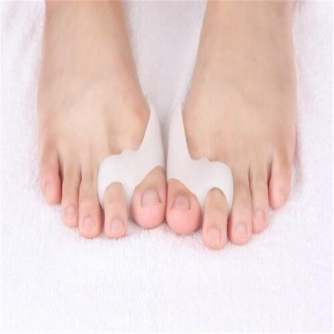 2PCS=1Pair Gel Foot Care Tool Bunion Corrector Bone Big Toe Protector Hallux Valgus Straightener Toe Spreader Pedicure-Freeowame