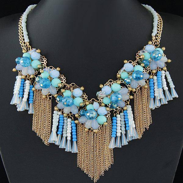 2016 New Arrival High Quality Chunky Necklaces & Pendants Crystal Flower Statement Choker Necklace Collares Mujer Jewelry