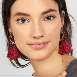 Best lady New Trendy 7 Colors Bohemian Tassel Earrings Fashion Jewelry Wedding Elegant Drop Dangle Earrings for Women Wholesale