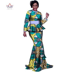 2018 Autumn Skirt Set African Designed Traditional Print Clothing Plus Size  Skirt Set women s clothing african ... bf3217530555