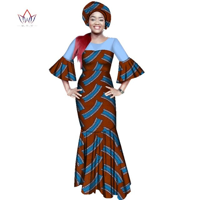 e7bebaf9aa3 Hover to zoom · african dresses for women bazin riche style femme african  clothes graceful lady print wax ...