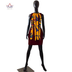 2018 summer Dresses Plus Size african dresses for women strapless women  african clothing knee length everyday ... 315ac206c52e