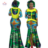 African Women Clothing Long Sleeve Dress Evening Sexy Dress Party Dresses Mermaid Dress Christmas Gift Plus Size 6XL BRW WY2468