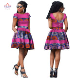 African Clothing Women Ankara Two Pieces Set Long Sleeve Crops Tops & Skirt Set Women Sexy African Clothing 6XL WY037