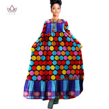 2017 BRW African Clothing Traditional Bazin Riche Autumn Dress Boho Style Robe Femme Maxi Dress Women Gowns Tunic Dresses WY931