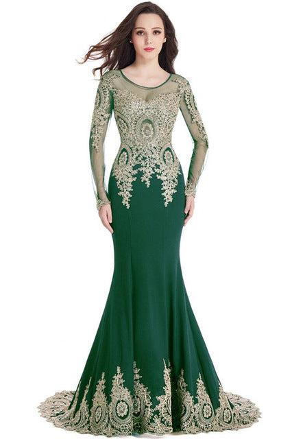 224239999f8b Real Image Cheap Burgundy Long Sleeve Mermaid Lace Prom Dresses Sexy ...