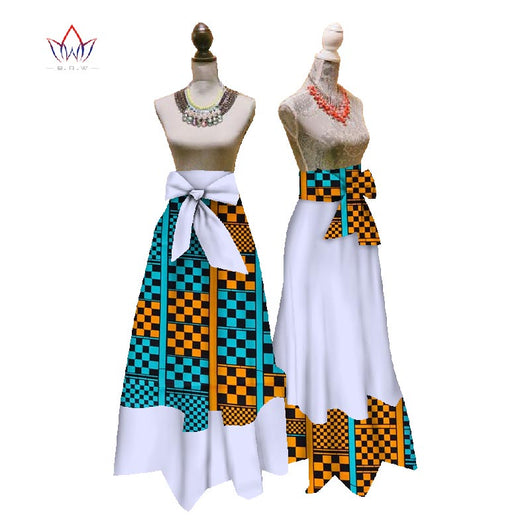 New African Print Summer Skirt for women Plus Size Dashiki African Traditional Clothing Ball Gown Casual Skirts WYD7