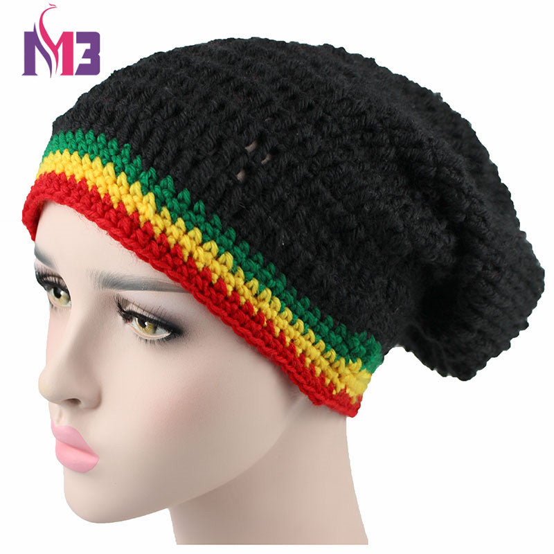 Fashion Unisex Rasta Hat Winter Warm Handmade Knitted Crochet Hats