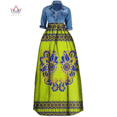 25cae325b77 New African Print Summer Skirt for women Plus Size Dashiki African  Traditional Clothing Ball Gown Casual