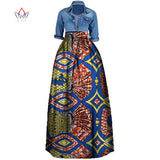 New African Print Summer Skirt for women Plus Size Dashiki African Traditional Clothing Ball Gown Casual Skirts WY106