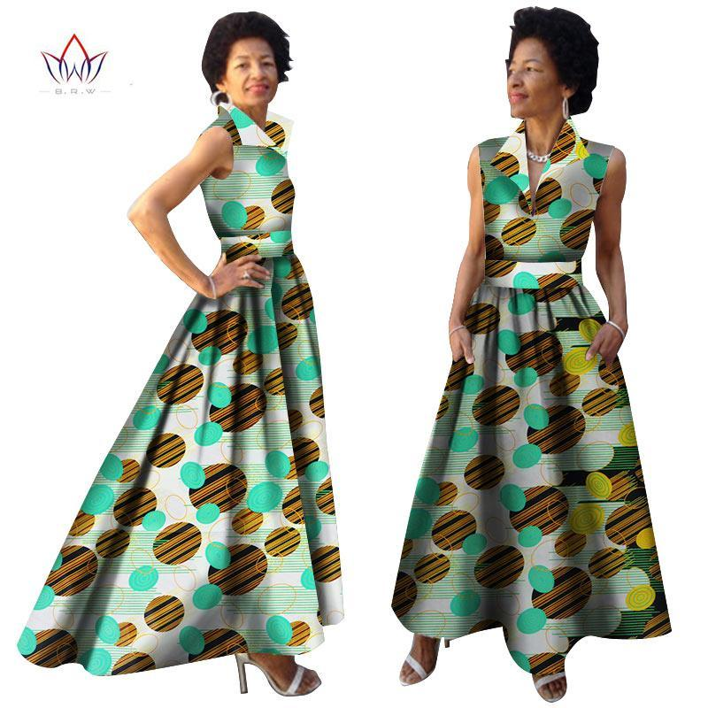1fb82a04e4e 2018 African Summer Dress Dashiki Dress African Bazin Riche Dress for Women  Plus Size Long Print. Hover to zoom