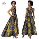 2018 African Summer Dress Dashiki Dress African Bazin Riche Dress for Women Plus Size Long Print Africa Clothing WY833