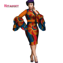 Dashiki Dress 2017 Autumn Long Sleeve Vintage Traditional African Dresses  for Women Print Bodycon Sexy Dress ... 701098f116e1