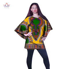 BRW African Women Tees Ankara Fashions Womens Tops Dashiki Africa Print Wax  Shirt Plus Size M ... 414b325e1195