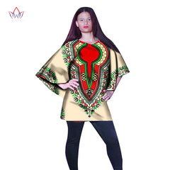 ... BRW African Women Tees Ankara Fashions Womens Tops Dashiki Africa Print  Wax Shirt Plus Size M d9e3384dfccc