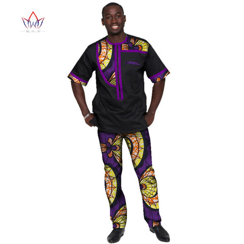 2018 Summer Mens African Clothing Plus Size 6XL African Clothes Sport Man Mens Clothing for Men 2 Pieces Plus Size  BRW WYN342
