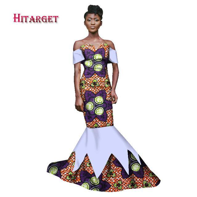 2017 New Autumn Long Dress African Tribal National Wind Printing Short Sleeve Plus Size Africa Bazin Riche Maix Dresses WY1543