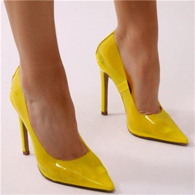 455f3dade8d9 ... Hanbaidi Sexy Pvc Clear Women Pumps Pointed Toe Slip On Transparent  Bride shoes Women Stiletto High ...