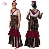 african dresses for women sexy & club dashiki women bazin riche long cotton dress traditional plus size natural none 6xl WY3176