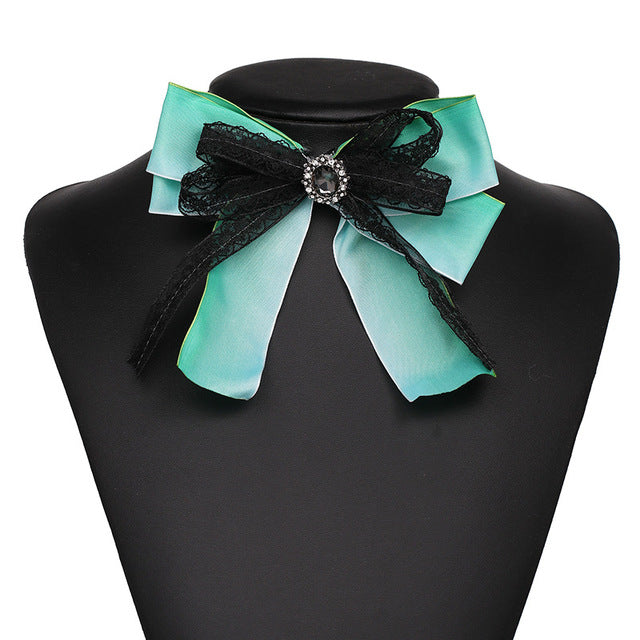 f6549a76dcd ... Qiaose 3Colors Bow Brooches Rainbow Ribbon Trendy Corsage Jewelry  Bowknot Brooch Vintage Collar Shirt Dress Jewelry ...