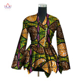 Spring 2018 New African Print Wax Coat Dashiki Blazer Plus Size 6xl Africa Style Clothing for Women Crop Top Casual Coat WY3036
