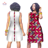 Summer Africa Fashion Dress for Women Dresses Bazin Riche Wax Print Fabric Party Dresses Sexy Strapless Dress For Girls WY3056