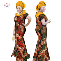... BRW 2017 Autumn African Dresses for Women Party Bazin Riche Dress  African Plus Size 6xl Wax 7ed3ec03a6a3