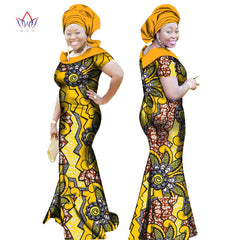 BRW 2017 Autumn African Dresses for Women Party Bazin Riche Dress African  Plus Size 6xl Wax ... c201cfab03b6