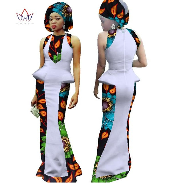 3141cd96c New Arrival Summer Women Dress Sexy Bodycorn African Dashiki Print Maxi  Dress With Free Head-
