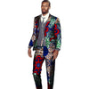 Image of New arrivals men's African suits Ankara fashion print dashiki suits man blazer with pant 2 pieces for wedding africa clothing