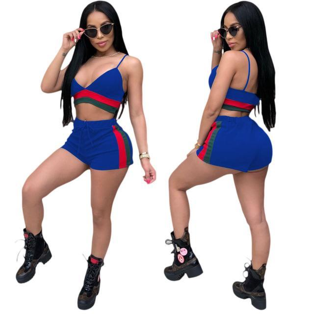 cdc6bc7c80e6 ... 2018 2 Piece Set Women Sexy Crop Top And Pants Two Piece Outfits Women  For Summer